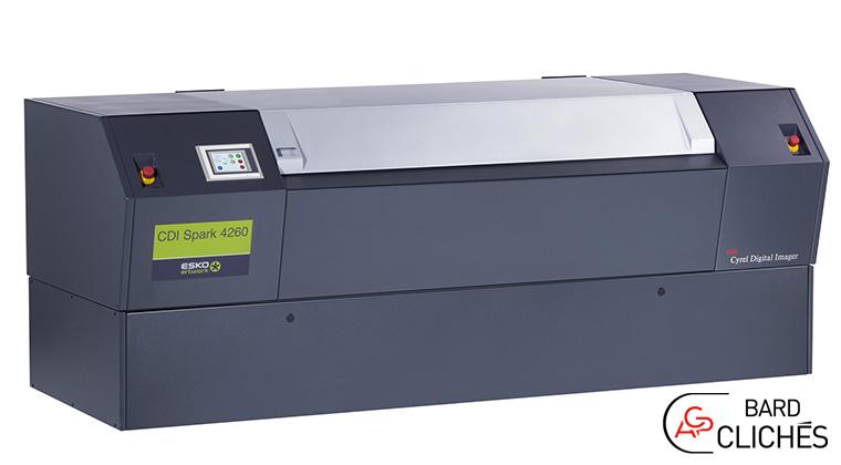 Esko CDI SPARK 4260 : l'écriture de plaques et clichés photopolymères haute qualité